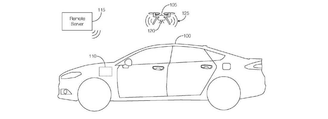 Ford has acquired the vehicle-integrated drone patent