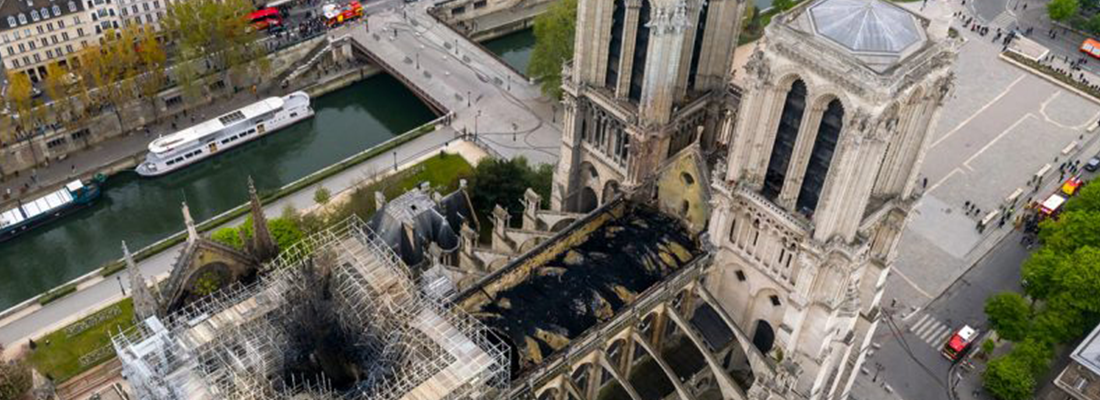 Drones used during the Notre Dame fire